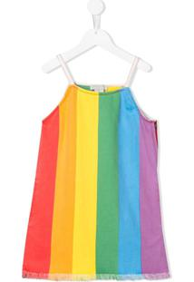 Stella Mccartney Kids Vestido Reto Com Listras - Amarelo