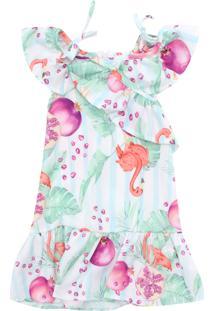 Vestido Nick Flamingo Verde