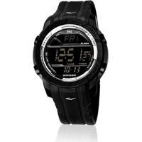 30a6a7cabb3 Relógio Pulso Everlast Action Digital Caixa Pulseira Abs - Masculino-Preto