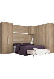 Dormitório Modulado Casal 8 Peças - Demóbile Bm268