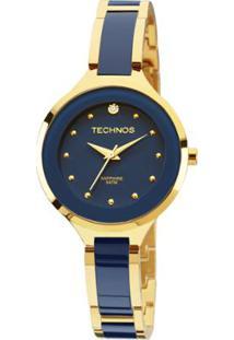 Relógio Technos Ceramic Feminino Analógico - 2035Lyv/4A 2035Lyv/4A - Feminino-Azul