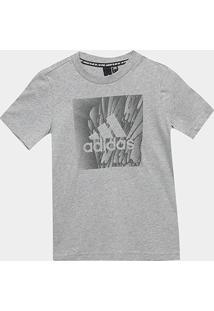 Camiseta Infantil Adidas Yb Mh Box Masculina - Masculino-Cinza