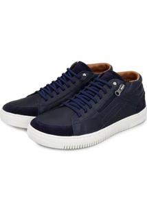 Sapatênis Br2 Footwear Casual Botinha Masculino - Masculino-Azul