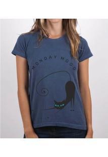 Camiseta Fernanda Almeida Monday Mood - Feminino-Marinho