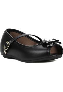Sapato Para Bebe Menina - Feminino-Preto