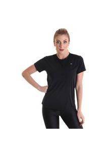 Camiseta Feminina Manga Curta Antiviral Efeito Permanente - Preto - Líquido