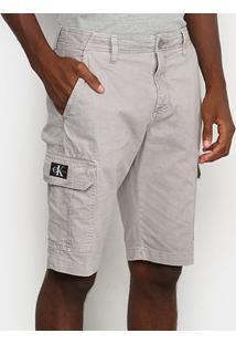 Bermuda Calvin Klein Masculina - Masculino-Cinza Claro