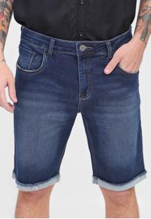 Bermuda Jeans John John Reta Estonada Azul