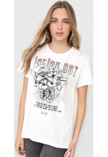 Camiseta Colcci Inside Out Off-White