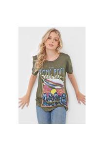 Camiseta Colcci Flyung Rock Verde