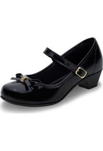 Sapato Infantil Feminino Bonekinha - 31001 Verniz/Preto 01 28