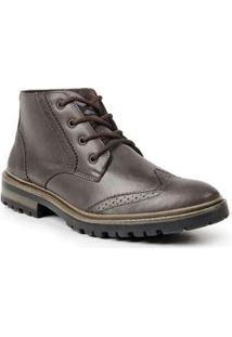Bota Dress Boot Masculina Polo State Sabertooth Marrom Escuro Coffee