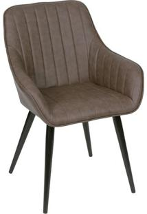 Cadeira Florenã§A- Cafã© & Preta- 84X60X41,5Cm- Oror Design