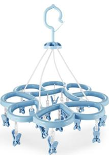 Mini Varal Com 16 Prendedores Jacki Design Lifestyle Azul