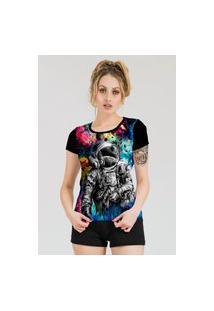 Camiseta Stompy Estampada Feminina Modelo 46 Preta