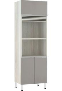 Módulo Cozinha Torre Lis 3 Pt 2 Nichos - 70Cm - 2580/171 - Cappucino Txt - Prime Plus - Luciane