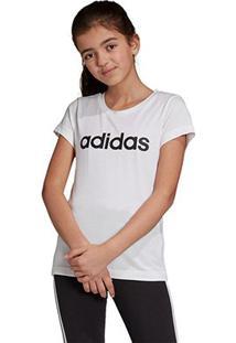 Camiseta Infantil Adidas Estampa Logo Yg Lin Tee Feminina - Feminino