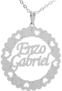 Gargantilha Mandala Horus Import Manuscrito Enzo Gabriel - 2060107 Banho Prata 1000
