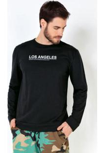 Casaco Los Angeles Básico Preto