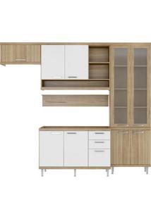 Cozinha Compacta Lanús 9 Pt 3 Gv Argila E Branco