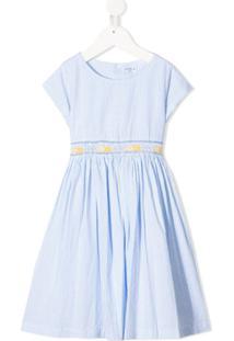 Siola Vestido Mangas Curtas - Azul