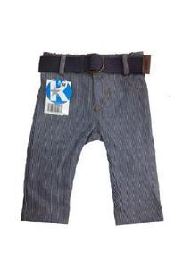 Calça Jeans Bebê Menino Meu Primeiro Jeans - Kidins