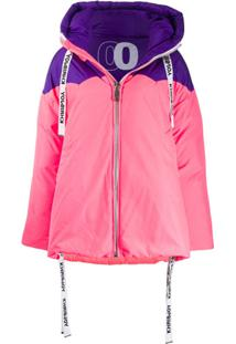 Khrisjoy Colour Block Oversized Puffer Jacket - Rosa