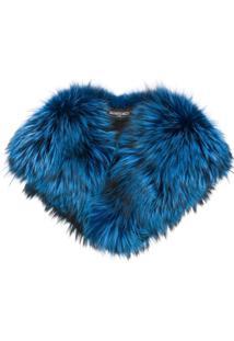 Simonetta Ravizza Cachecol De Pelos - Azul