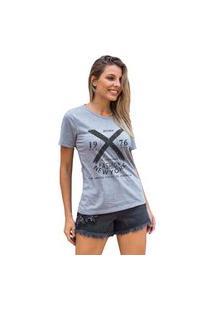 Camiseta Feminina Mirat Bronx Fashion Ny Mescla