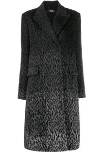 Karl Lagerfeld Karl X Carine Leopard Coat - Cinza