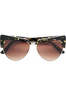 Karl Lagerfeld Óculos De Sol 'Kreative' Gatinho - Marrom