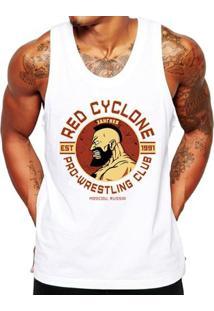 Camiseta Regata Criativa Urbana Fitness Red Cyclone - Masculino