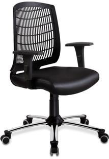 Cadeira De Escritório Diretor Foyer Preta