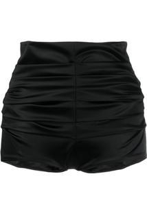 Dolce & Gabbana Short Cintura Alta - Preto