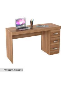Escrivaninha Office Plus Com Gavetas- Castanho- 76,5Appunto Móveis