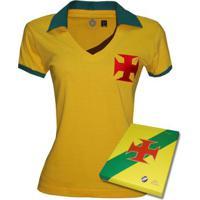 9e67d84ad Camisa Liga Retrô Vasco Brasil Feminino- Edição Limitada - Feminino