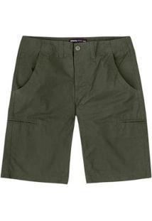 Bermuda Hering Básica Bolsos Embutidos Masculina - Masculino-Verde Escuro