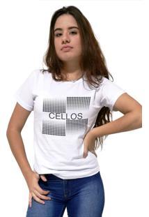 Camiseta Feminina Cellos Degradê Premium Branco