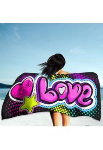 Toalha De Praia / Banho Love