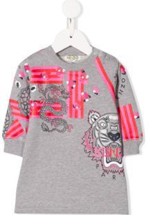 Kenzo Kids Vestido Suéter - Cinza