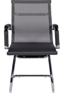 Cadeira De Escritório Tela Fixa - Cinza