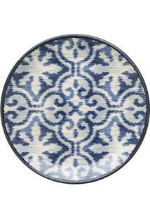 Prato De Sobremesa Em Cerâmica Aquarelle 20Cm Boho Blue