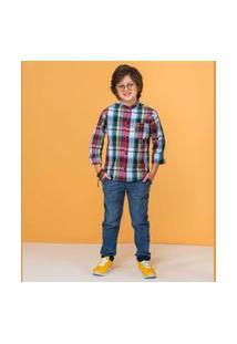 Camisa Kids Xadrez C/ Bolso Camisa Kids Xadrez C/ Bolso Xadrez 10