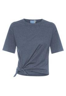 Camiseta Feminina Tie - Cinza