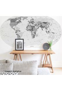 Grudado Adesivo De Parede Mapa Preto & Branco 90X180Cm