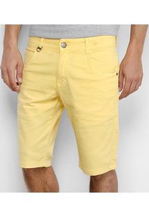Bermuda Reta Rock & Soda Masculina - Masculino-Amarelo