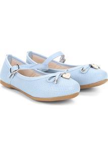 Sapato Infantil Klin Princesa Baby Menina - Feminino-Azul Claro