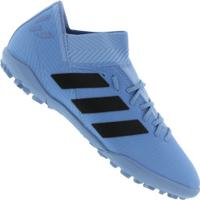 359aaf7eaa Centauro. Chuteira Society Adidas Nemeziz Messi Tango 18.3 Tf - Adulto -  Azul Preto