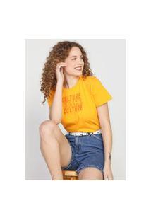 Camiseta Colcci Culture Amarela