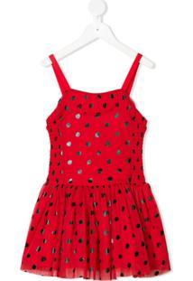Stella Mccartney Kids Vestido De Joaninha Com Asas - Vermelho